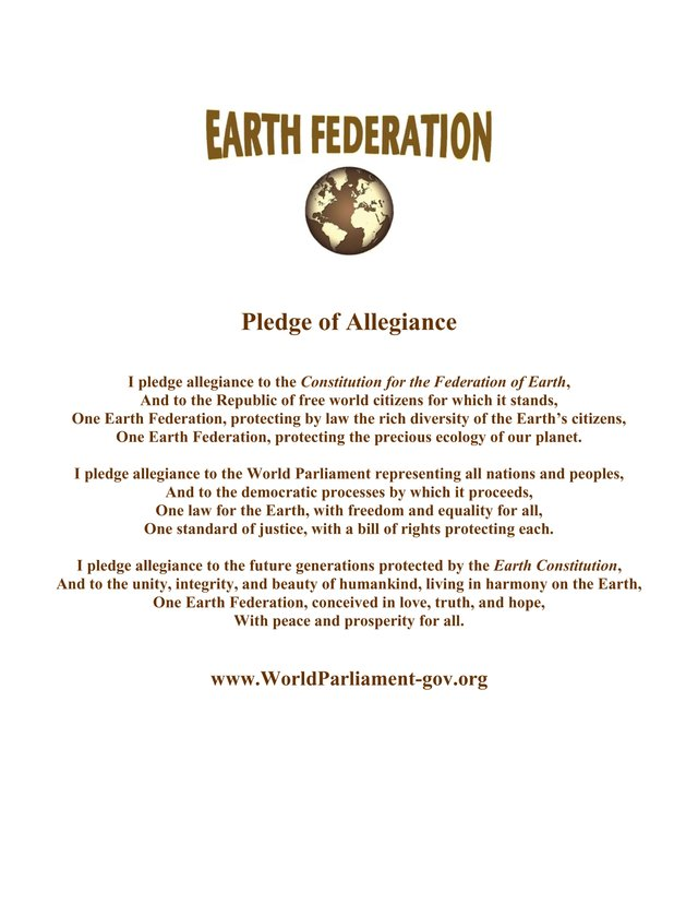 Earth Federation Pledge of Allegiance
